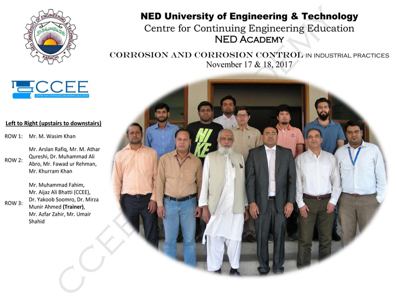 Training in NED University Karachi